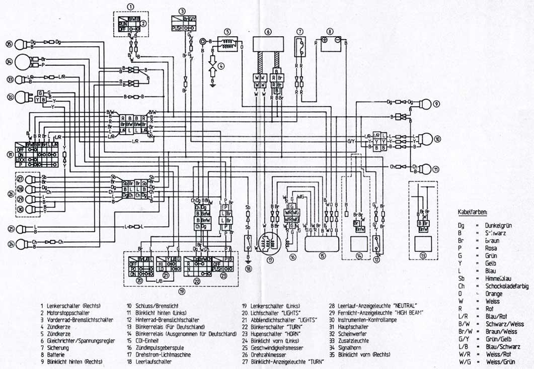 Schema Elettrico Yamaha Ttr : Schema elettrico xt prépa ttr page contemporanea in