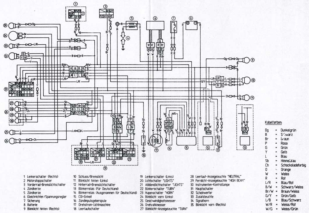 Schema Elettrico Honda Shadow 600 : Schema elettrico xt prépa ttr page contemporanea in