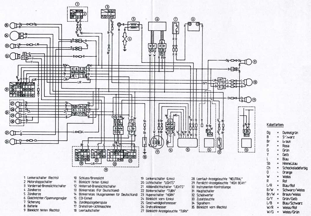 xt 600 e wiring diagram
